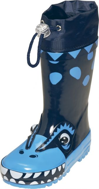 Playshoes---Gummistiefel-Dino---Blau