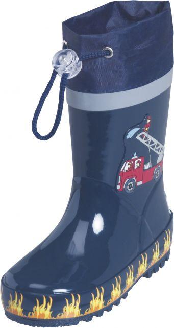 Playshoes---Gummistiefel-Feuerwehr---Dunkelblau