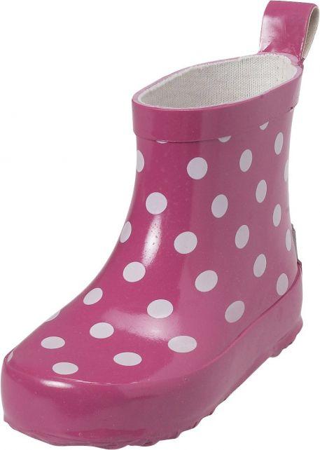 Playshoes---Kurze-Gummistiefel---Rosa-gepunktet