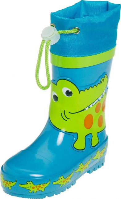 Playshoes---Gummistiefel-mit-Zugband---Krokodil