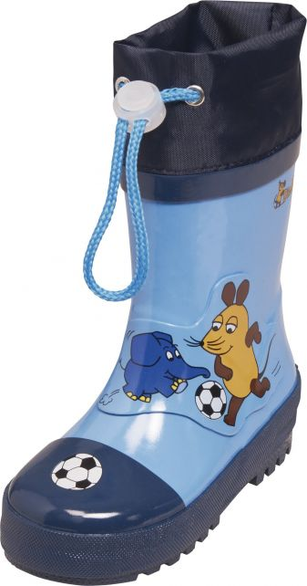 Playshoes---Gummistiefel-Maus-&-Elefant-Fußball---Blau