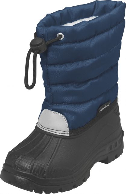 Playshoes---Winterstiefel-mit-Zugband---Dunkelblau