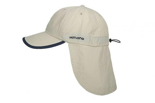 Hatland---UV-Sonnenkappe-mit-Nackenschutz-für-Herren---Stone-Antimücken---Beige