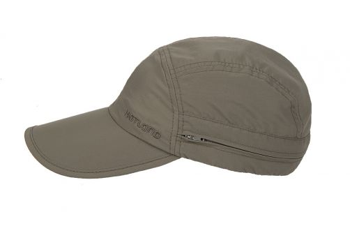 Hatland---UV-Sonnenkappe-mit-Nackenschutz-für-Herren---Janou---Olivgrün