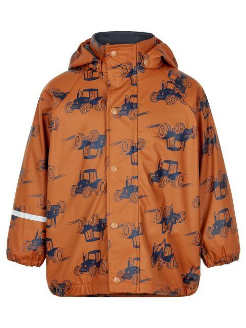 CeLaVi---Regenjacke-mit-Fleece-für-Jungen---Traktoren---Kürbis