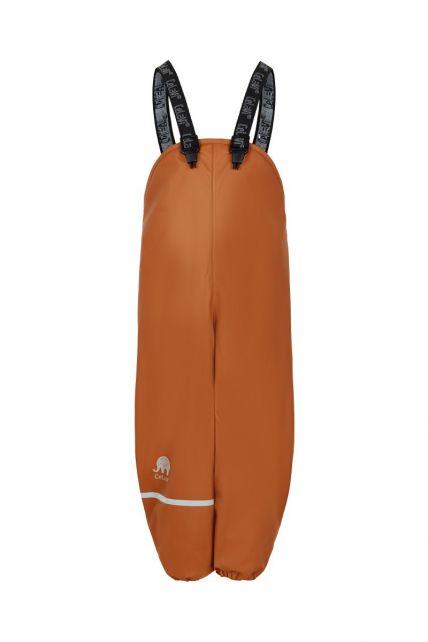 CeLaVi---Regenhose-mit-Fleece-für-Kinder---Lätzchen-oder-elastischer-Bund---Kürbis