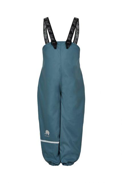 CeLaVi---Regenhose-mit-Fleece-für-Kinder---Lätzchen-oder-elastischer-Bund---Eisblau