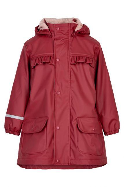 CeLaVi---Regenmantel-mit-Fleece-für-Mädchen---Dunkelrot