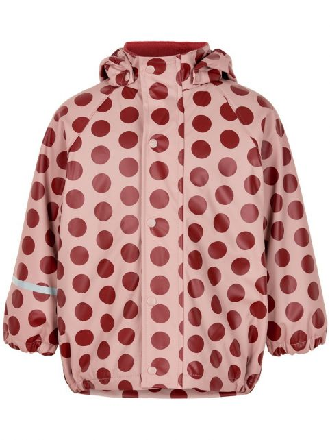 CeLaVi---Regenjacke-mit-Fleece-für-Mädchen---Dots---Rosa