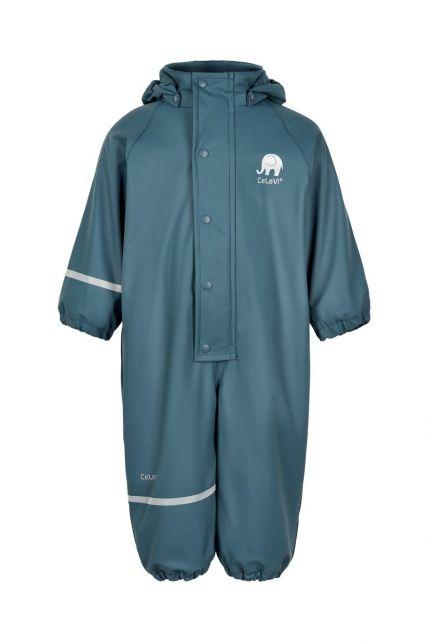 CeLaVi---Regenanzug-mit-Fleece-für-Kinder---Solid---Eisblau