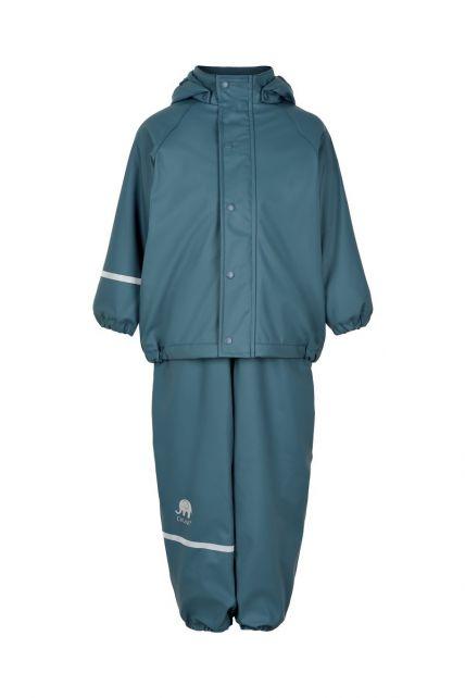CeLaVi---Regenbekleidungsset-mit-Fleece-für-Kinder---Lätzchen-oder-elastischer-Bund---Eisblau