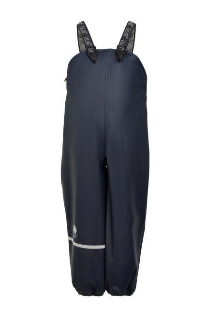 CeLaVi---Regenhose-mit-Fleece-für-Kinder---Lätzchen-oder-elastischer-Bund---Dunkelblau