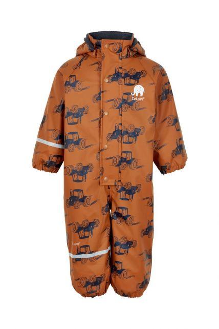 CeLaVi---Regenanzug-mit-Fleece-für-Jungen---Traktoren---Kürbis