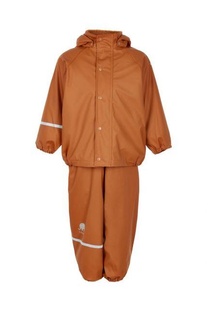 CeLaVi---Regenbekleidungsset-mit-Fleece-für-Kinder---Lätzchen-oder-elastischer-Bund---Kürbis