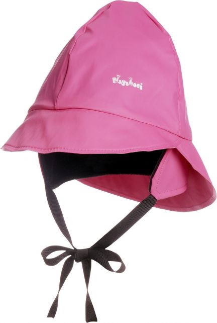 Playshoes---Regenmütze-mit-Fleecefutter---Rosa