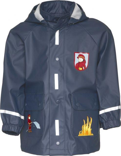 Playshoes---Regenmantel-Feuerwehr---Dunkelblau