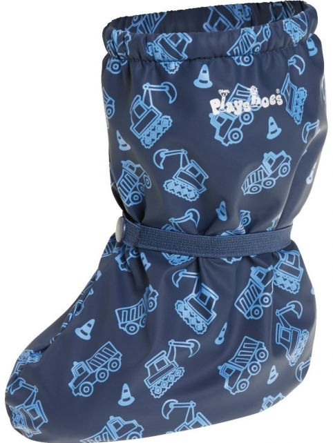 Playshoes---Regenfüßlinge-mit-Fleece-Futter---Baustelle---Dunkelblau