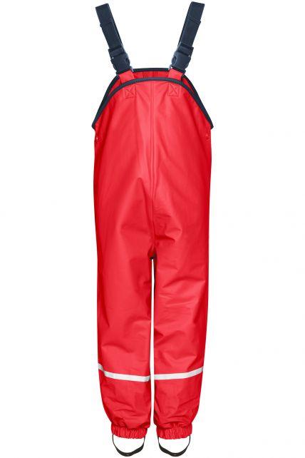 Playshoes---Regenlatzhose-mit-Fleece-Futter---Rot
