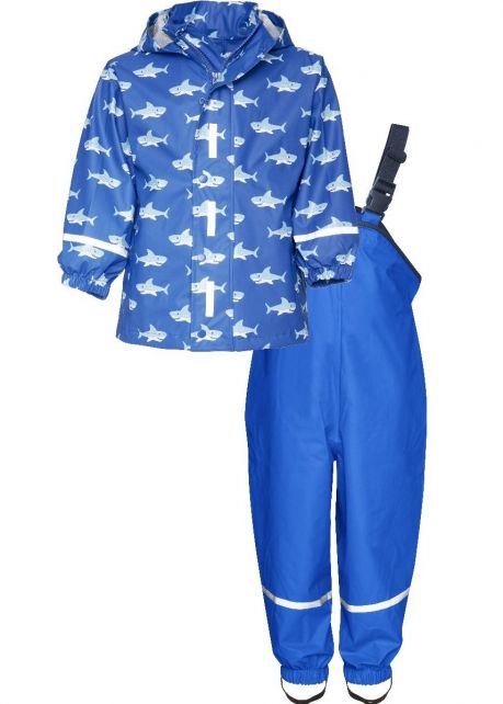 Playshoes---Regenanzug-Haie---Blau