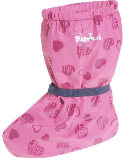 Playshoes---Regenfüßlinge-mit-Fleece-Futter---Herzchen---Rosa