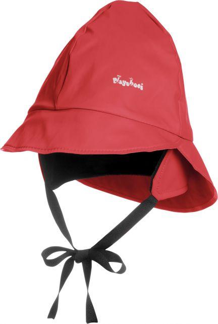 Playshoes---Regenmütze-mit-Fleecefutter---Rot
