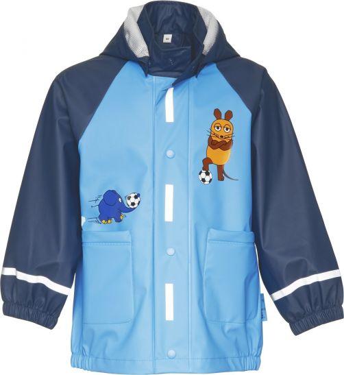 Playshoes---Regenmantel-Maus-&-Elefant-Fußball---Blau