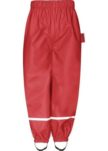 Playshoes---Regenhose-mit-Fleecefutter-für-Kinder---Rot