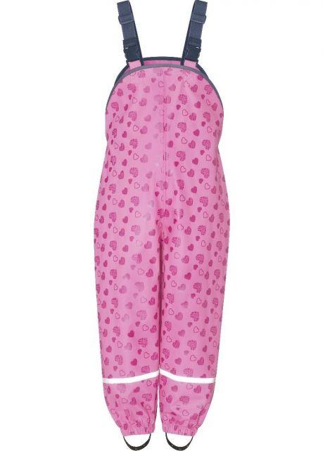 Playshoes---Regenlatzhose-mit-Herzchen-für-Kinder---Rosa