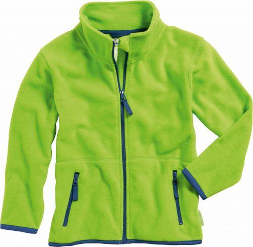 Playshoes---Fleece-Jacke-mit-langen-Ärmeln---Grün/Dunkelblau