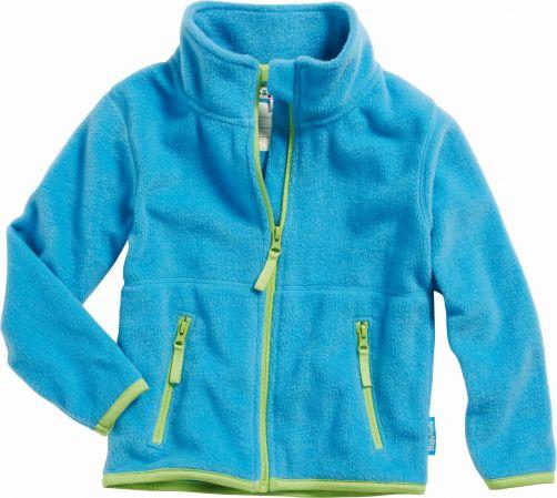 Playshoes---Fleece-Jacke-mit-langen-Ärmeln---Hellblau/Grün