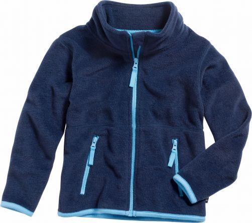 Playshoes---Fleece-Jacke-mit-langen-Ärmeln---Dunkelblau/Blau