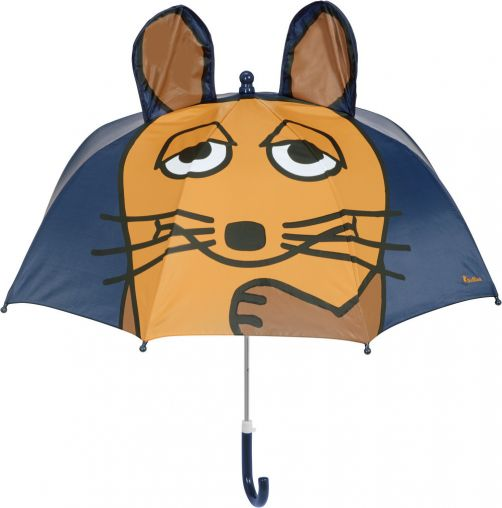Playshoes---Regenschirm-3D-für-Kinder---Maus---Dunkelblau