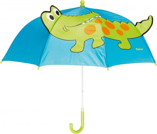 Playshoes---Kinder-Regenschirm-mit-Krokodil---Blau