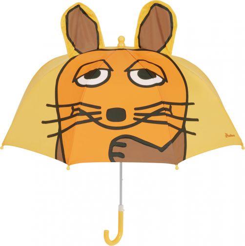 Playshoes---Regenschirm-3D-für-Kinder---Maus---Gelb