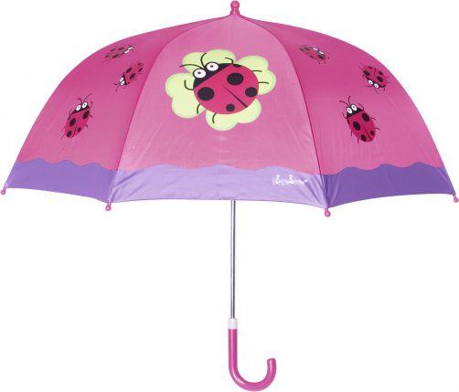 Playshoes---Kinder-Regenschirm-mit-Marienkäfer---Rosa