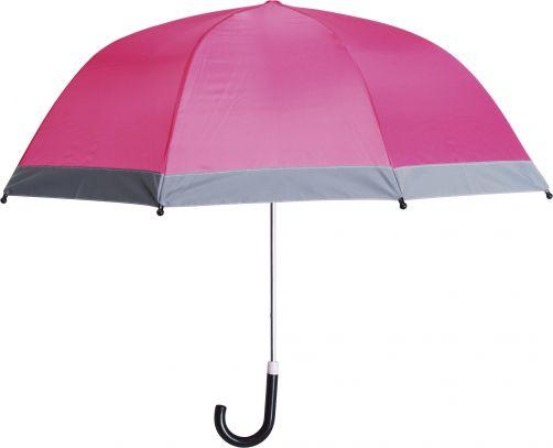 Playshoes---Kinder-Regenschirm-mit-Reflektoren---Rosa