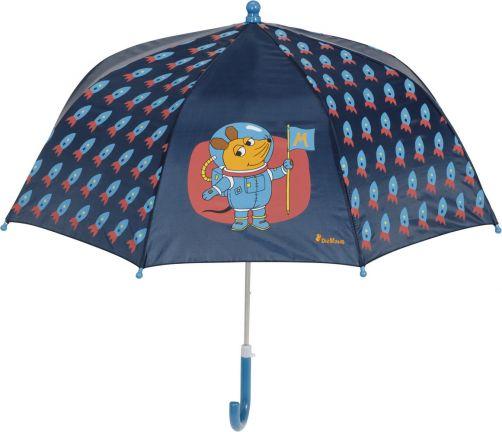 Playshoes---Regenschirm-für-Kinder---Maus---Weltraum---Dunkelblau