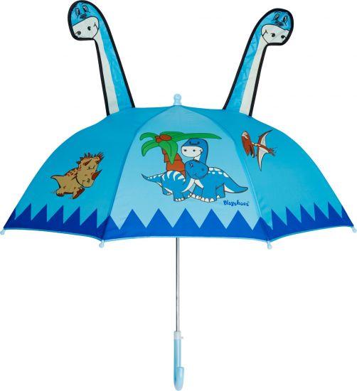 Playshoes---Kinder-Regenschirm-mit-Dino---Hellblau