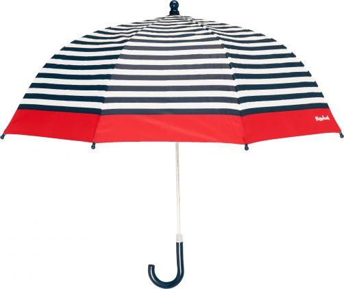 Playshoes---Kinder-Regenschirm-mit-Streifen---Dunkelblau/Weiß