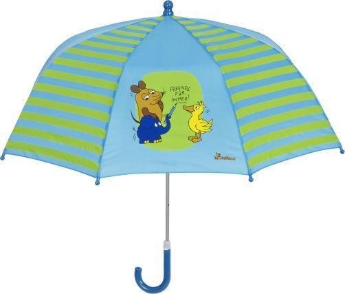 Playshoes---Regenschirm-für-Kinder---Maus---Freunde-für-Immer---Blau