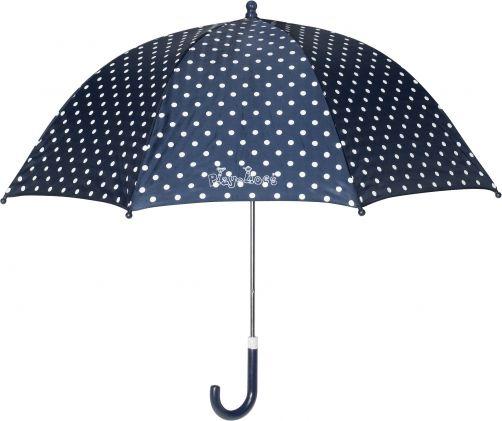 Playshoes---Kinder-Regenschirm-mit-Punkten---Dunkelblau