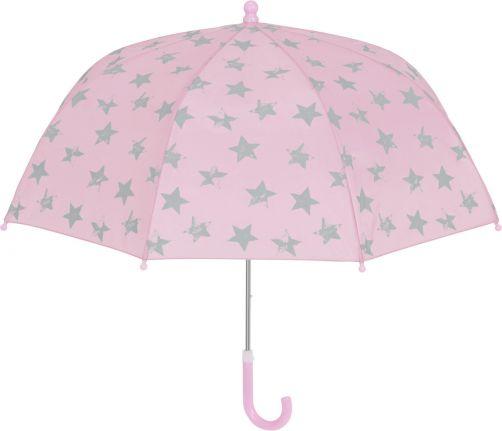 Playshoes---Regenschirm-für-Kinder---Sterne---Rosa