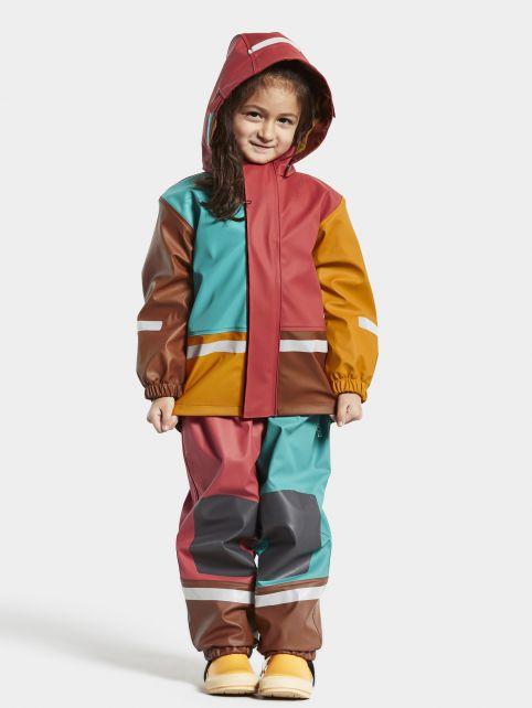 Didriksons---Regenanzug-Set-für-Babys---Boardman---Multicolor---Rot