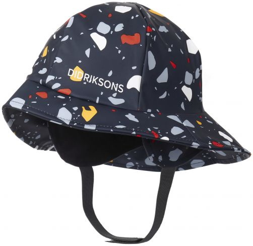 Didriksons---Regenhut-für-Kinder---Südwester-bedruckt---Dunkelblau