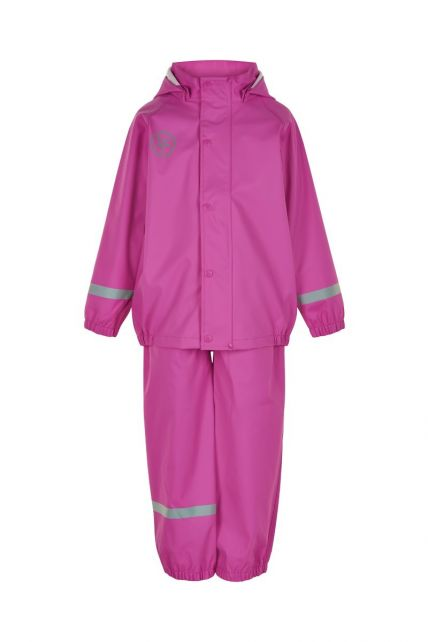 Color-Kids---Regenanzug-für-Mädchen---Uni---Rosa-Violett