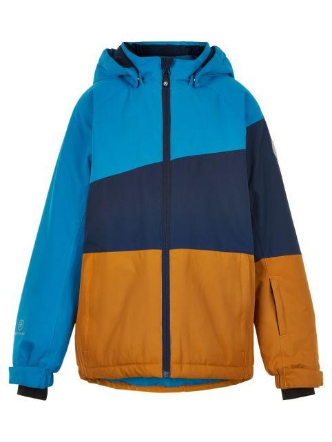 Color-Kids---Skijacke-für-Jungen---Colorblock---Hellblau/Dunkelblau/Honig