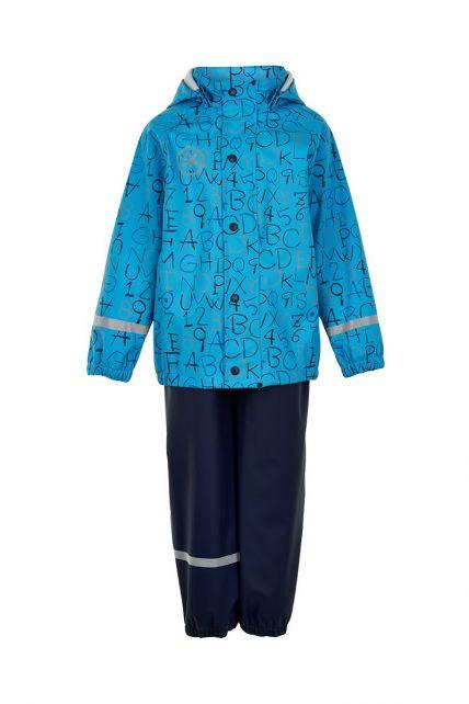 Color-Kids---Regenanzug-für-Jungen---AOP---Cyanblau