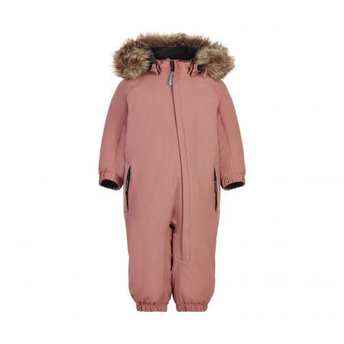 Color-Kids---Coverall-Schneeanzug-mit-Fellimitat-für-Babys---Colorblock---Pink