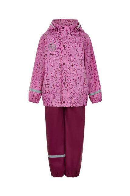 Color-Kids---Regenanzug-für-Mädchen---AOP---Fuchsia-Pink