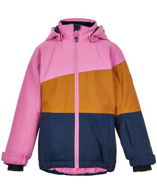 Color-Kids---Skijacke-für-Mädchen---Colorblock---Pink/Honig/Dunkelblau